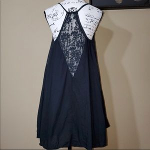 Elan lace racer back fit and flair dress
